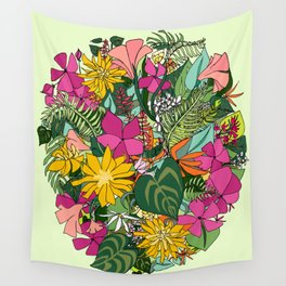 Tropics and Plants Wall Tapestry