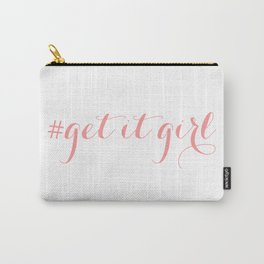 # Get It Girl // Peony Carry-All Pouch
