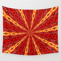 novelty Wall Tapestries featuring FALL KALEIDOSCOPE  by Teresa Chipperfield Studios