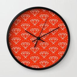 DIAMOND ((cherry red)) Wall Clock