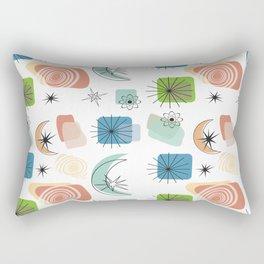 Mid Century Modern Retro Pattern Rectangular Pillow