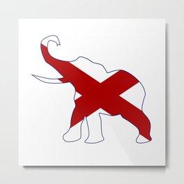 Alabama Republican Elephant Flag Metal Print