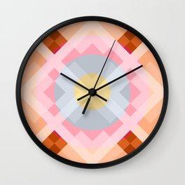 Colorful Retro Pattern 2 Wall Clock