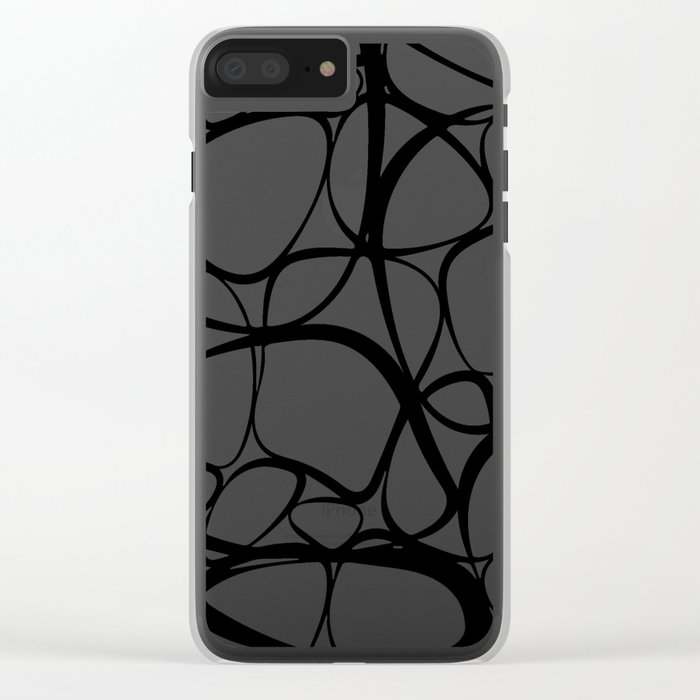 Abstract I Clear iPhone Case