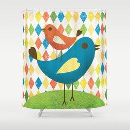 chirp chirp Shower Curtain