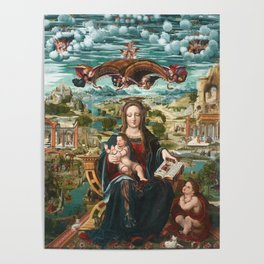Virgin and Child with the Infant Saint John Poster