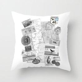 Patagonia - Map Throw Pillow