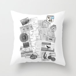 Patagonia - Map Throw Pillow