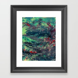 Forest in the sea Framed Art Print