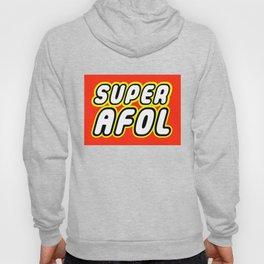 SUPER AFOL in Brick Font Logo Design by Chillee Wilson Hoody