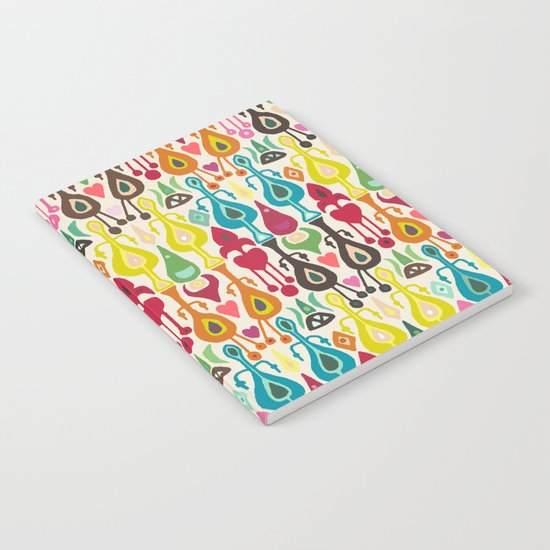 ivory love ikat Notebook