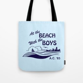 At the Beach with the Boys Tote Bag