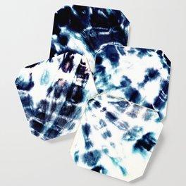 Tie Dye Sunburst Blue Coaster