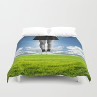 large Duvet Covers featuring living large by TRASH RIOT