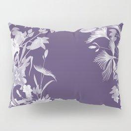 Stardust Violet Indigo Floral Motif Pillow Sham