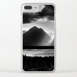 Grand Teton Light Beams Clear iPhone Case