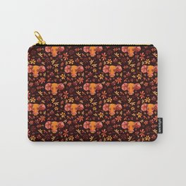 Bold Aries flower pattern Carry-All Pouch