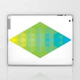 Yellow Cyan Diamond Gradient Laptop & iPad Skin