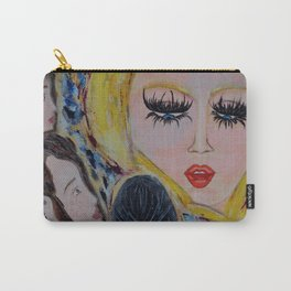 The Arian: Acrylic Painting of girls Carry-All Pouch