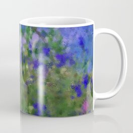 Painted Blue And Green Water Reflection  Coffee Mug