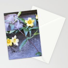 petite yellow flowers Stationery Cards