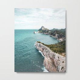 Seascape of Mallorca Poster, Spain Print, Cape Formentor, Peninsula, Nature, Landscape Photography Metal Print