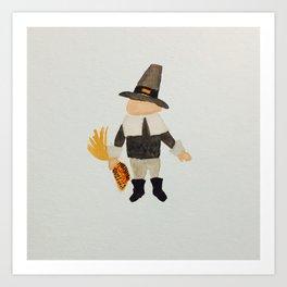 November Thanksgiving Pilgrim Puritan Baby Boy Toddler Art Print