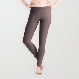 Grape Vine Purple Solid Color Inspired by Behr Plumville N120-5 Leggings