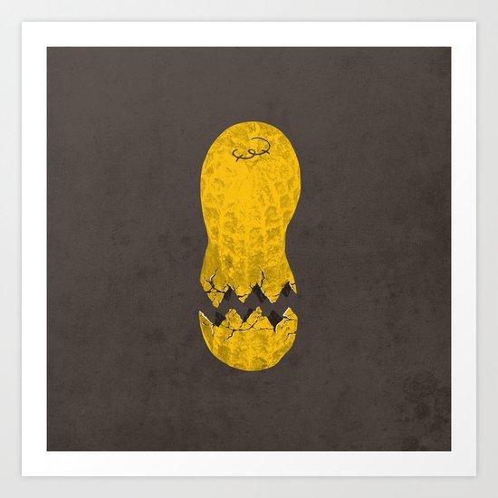 cracked peanut  Art Print