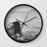 alone Wall Clocks featuring Alone  by PhotoStories