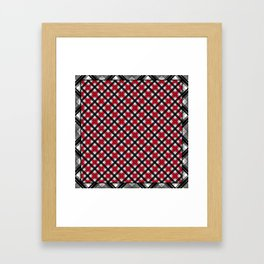 Tartan , red , black , gray Framed Art Print
