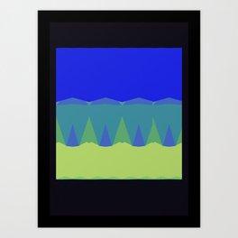 Geometric Sunset Print Art Print