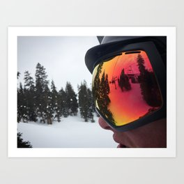 Through the Goggle Lense Art Print
