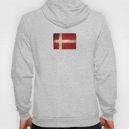 Old and Worn Distressed Vintage Flag of Denmark Hoody