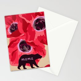 Mama and Poppy Bear Stationery Cards