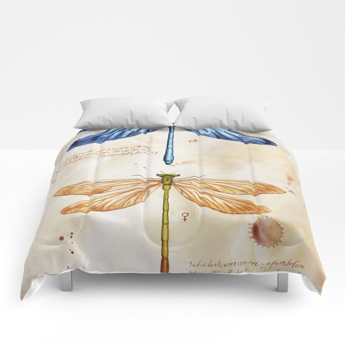 Science art insect art Comforters