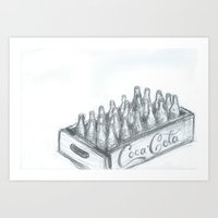 coca cola Art Prints featuring Coca Cola by Koshila Perera