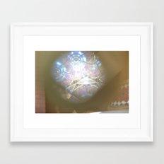 Spiralling Flare Framed Art Print
