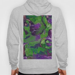 Abstract Green and Purple Garden 767 Hoody