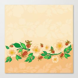 Abstract roses background Canvas Print