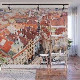 Red Roof Prague Wall Mural