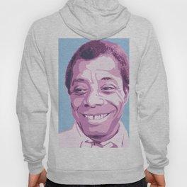 James Baldwin Portrait Blue Purple Hoody