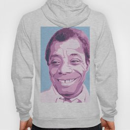 James Baldwin Portrait Blue Purple Hoody