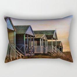 Beach Huts. Rectangular Pillow