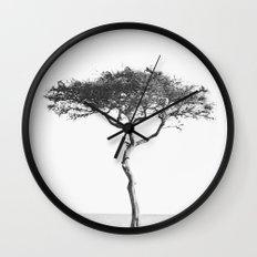 black&white::kenya Wall Clock