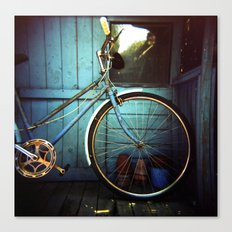 Bluebell the blue bicycle Canvas Print