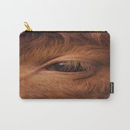 Highland Cow's Eye Closeup Carry-All Pouch