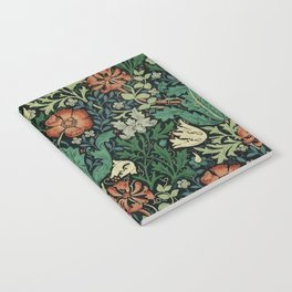 William Morris Compton Floral Art Nouveau Pattern Notebook