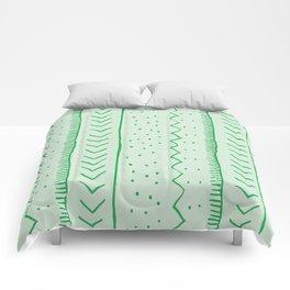 Moroccan Stripe in Green Comforters