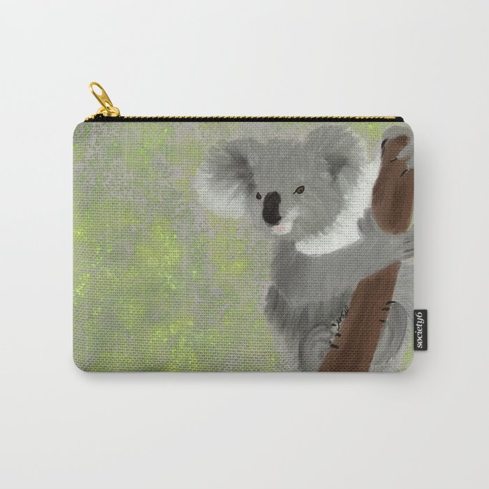 Koala Bear Hanging In There Carry-All Pouch